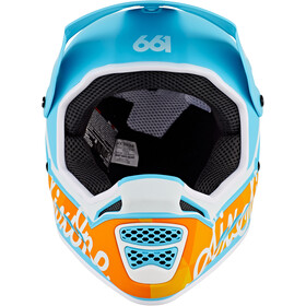 SixSixOne Reset MIPS Full Face Helm, geo blue/orange